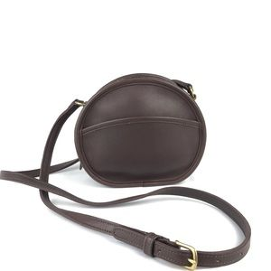 COACH Vintage Brown Leather Canteen Crossbody 9982